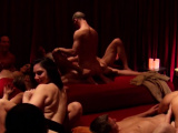The red room gets crowded with hot asses
