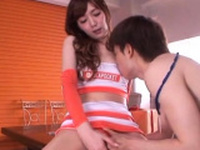 Voluptuous Kaede Fuyutsuki prepares for blowjob