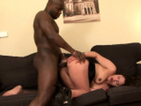 Interracial banging for a tight brunette bombshell