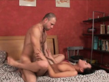 Glorious russian floozy cums while riding