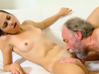 Fervid college girl was teased and screwed by senior 68Xrs