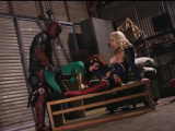 Captain Marvel Threesome with Deadpool