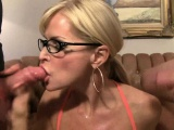 Busty Blonde MILF Getting Cum all Over Her Face