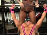 Female Muscle Lesbians Love Big Tits