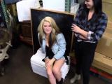 Double footjob blowjob Lesbians Pawn Their Asses!