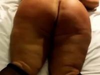 Spanking her fat slutty butt real hard