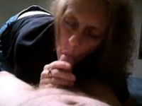 Grandma blowjob and cum Trudi from 1fuckdatecom