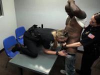 Black anus and blonde white socks Milf Cops