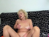 Old hairy blonde masturbating Compilation