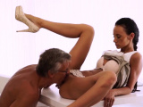 Old dad fucks hard Finally shes got her boss dick