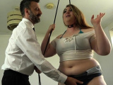 Restrained chubby sub
