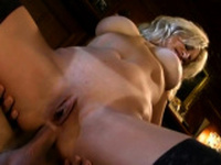Blonde MILF has crazy anal sex
