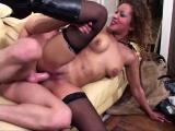 Nice Latina babe fucked in stockings