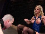Hot pornstar ballbusting and cumshot