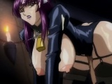 Hentai shemale with tied hands gets handjob