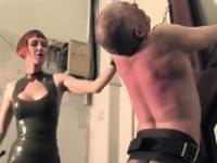 Redhead latex domina gives jailed sub CP