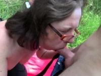 Enjoying a nice picnic with his hot wife