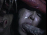 Helpless Girl Inside Monstrous Creature!