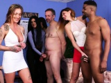 British femdoms racing with handjobs in group