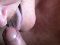 Amateur Grandma Licking his hard shaft