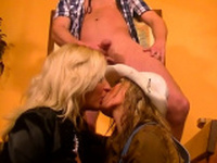 Fantastic blond gets her little fur pie fully stretched