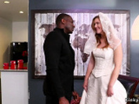 Blonde bride is bdsm gangbang fucked
