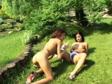 Outdoor pussy eating fest with two smoking hot chicks