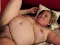 Bigtitted gilf banged on the bed