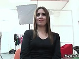 Sexy brunette girl gets horny talking part5