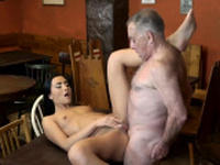 Daddy disciplines crony chums daughter first time Can