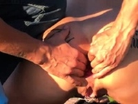 Fisting His Hot Wifes Ass in Public Till She Squirts