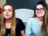 Amateur lesbians tying on webcam