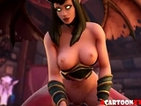 Warcraft pussy hammering and futanari sex
