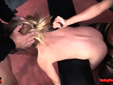 Submissive slave banged while bent over