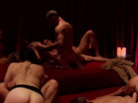 Hot swingers are having so much fun in the Red Room tonight!