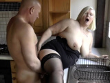 Granny gets bent over and fucked