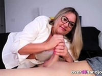 Most Enjoyable Handjob by Busty Milf