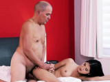 OLD4K. Old man penetrates girlfriend and cums all over her..