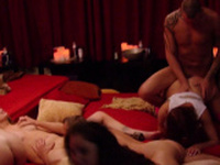 Sexy group of swingers is having an orgy