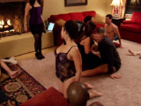 Hard cocks and horny girls at an orgy