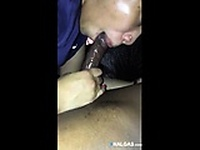 Ebony cunt fucks by black cock and ass with dildo