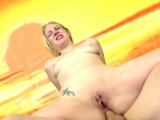 White blonde woman is manhandled by cocks