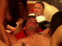 Amateur bisexual couples play and fuck