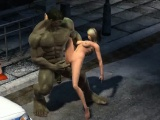 Sexy 3D babe getting fucked by The Incredible Hulk