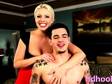 Stick loving lusty busty blonde Brittany Amber got banged