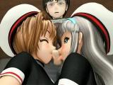 Sweet animated girls fingering