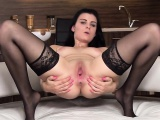 Wacky czech chick spreads her yummy vulva to the bizarre