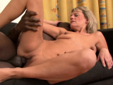 Blonde granny wants her pussy stuffed with black cock