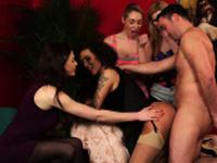 Nasty femdom voyeur group watch pussy fuck