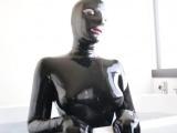 Hot pornstar latex with cumshot